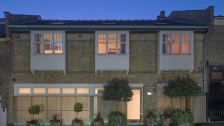The mews house was designed by Belsize Architects
