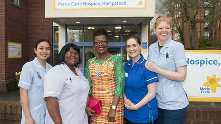 Royal College of Nursing president Cecilia Anim visits Marie Curie Hampstead Hospice