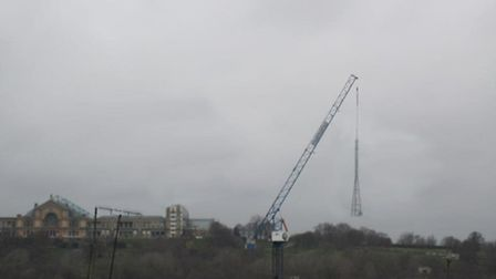 Residents feared for the iconic TV mast at Alexandra Palace. Image: Steven Wright