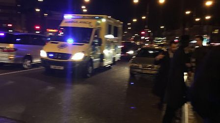 Volunteer from private ambulance organisation Hatzola were at the scene. Picture: @999London