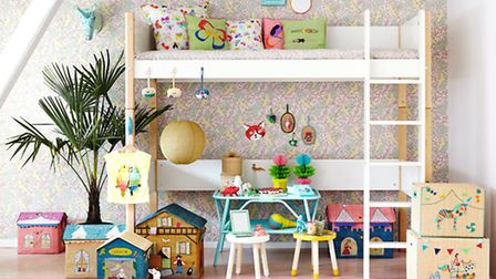 Bunk and loft beds are a playful way to maximise space. Raffia Play & Toy Storage Baskets, �29.50, S