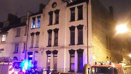10 firefighters from Homerton tackled the blaze. Picture: @LondonFire