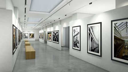 The David Bailey art gallery lobby was personally curated by the artist