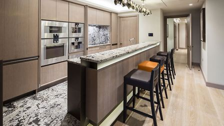Custom panels in the kitchen can screen the units when you're entertaining at home