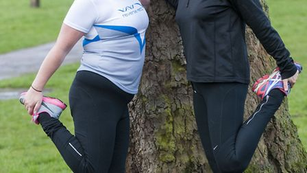 Lorna Stockwood and Nicole Baird who are raising money for Rett syndrome. Photo: Nigel Sutton