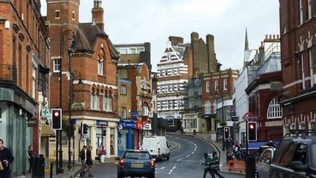 Pollution levels are high in Hampstead village Picture: Nigel Sutton
