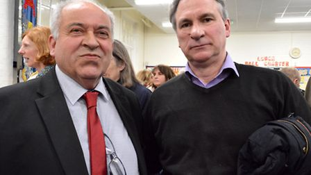 Joining Forces: Alberto DAuria with Andrew Pazienti at the protest meeting picture: Polly Hanc