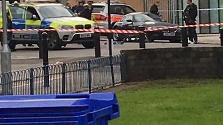 Roads in Haggerston taped off in the aftermath of the shooting last year (Picture: David Silvester)