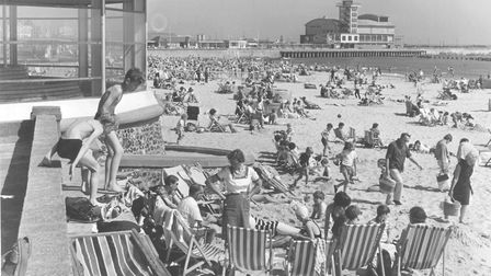 Enjoying ther sunshine on the South Beach at Lowestoft, August 1967. Picture Archant Librar