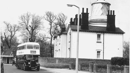 Lowestoft Lighthouse from the High Street, May 1957. Picture: Archant Library
