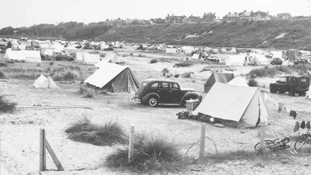 Camping on the North Denes at Lowestoft, August 1959. Picture: Archant Library