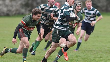 Adam Johnson scored two tries in the final 15 minutes as Hendon came from behind to win. Pic: Paolo