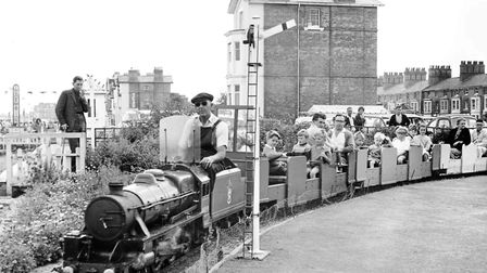 Lowestoft minature railway on the seafront in 1964. Picture: Archant Library
