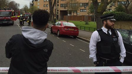 Buildings in Queens Drive have been evacuated. Picture: @OAslanses