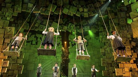 The RSC company production of Matilda the Musical. Picture: Manuel Harlan