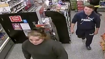 Police are searching for a man and woman after an incident of suspected fraud with a stolen debit ca
