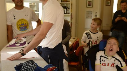 Harry Tottenham striker, Harry Kane, helped out with the family's day-to-day chores.