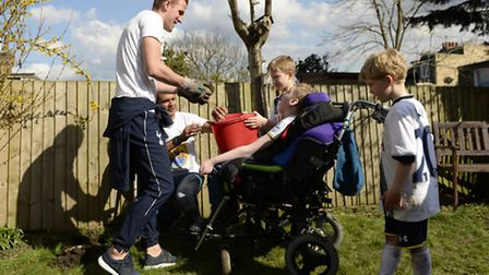 Harry Kane helped out with the family's day-to-day chores.