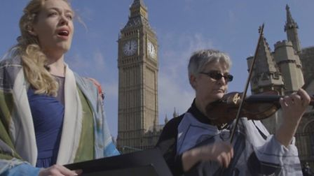 An event was held outside Parliament to mark the anniversary of Admiral Byng's execution. Alexandra