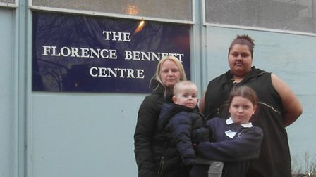 Leaders Vicky Stock and Zoe Coles with Vicky's daughter Tilly Tobyn, who was a Brownie guide, and Vi