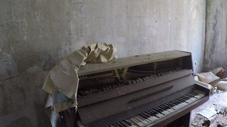 Desmond Gentle believes this is the last remaining piano in Chernobyl