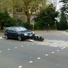 The aftermath of the crash in Highgate Hill