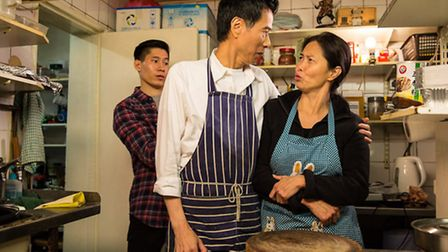 Actors Wai Wong and Daphne Cheung in a still from the show