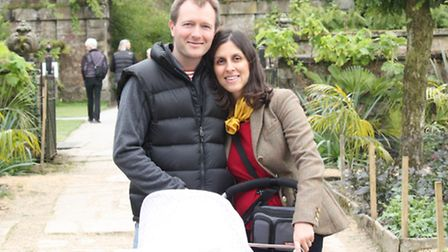 Nazanin and Richard Ratcliffe on their first holiday with baby Gabriella
