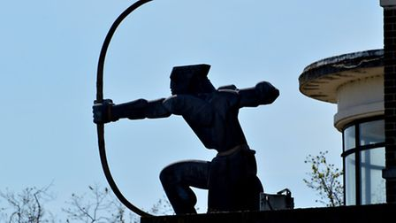 Eric Aumonier's Archer statue at East Finchley tube station