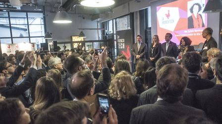 Over 200 people showed up to the launch of French Tech London on April 13