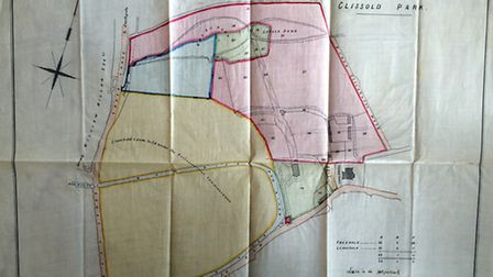 A map of the park from the 1880s