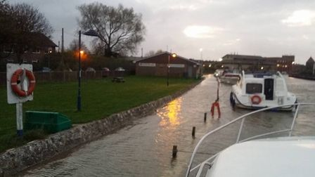 The River Bure at Great Yarmouth Station. Photo: Mark Gregory