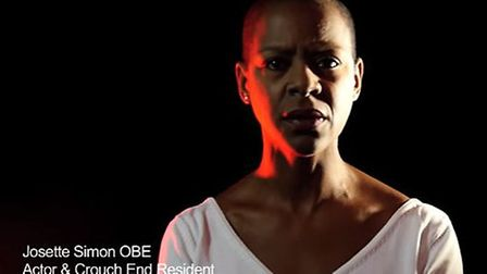 Josette Simon recorded the video for Crouch End TV