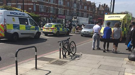 A child was hit by a car in Clapton Common. Picture: @999London