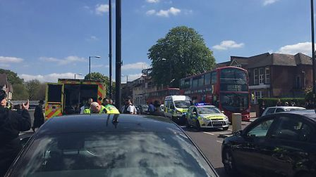 Emergency services at the scene. Picture: @999London