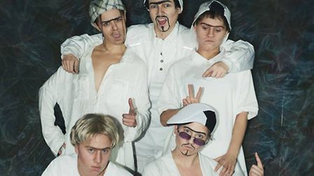 Figs In Wigs, a group of five female performance artists who did a spoof of the Backstreet Boys