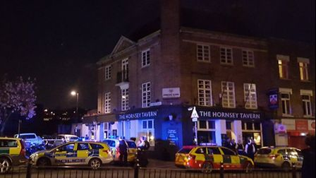 Police arrived at the Hornsey Tavern. Photo: Crouch End TV