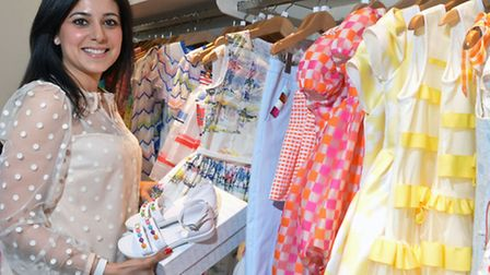 Owner Saby Thukral at the opening party of her store in Heath Street