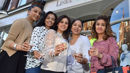 Mrs Thukral and fellow mums at the launch party. From left Mindra Ramkali, Dimple Hargunani, Saby Th