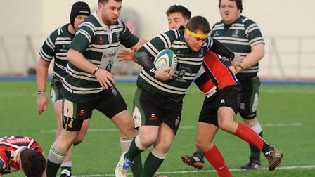 Hendon's Terry Gilbride scored two tries in Saturday's cup final. Pic: Paolo Minoli