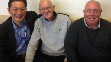 From left, Edward Cheong, Sammy Morgan and John Pitts, The Oesophago-Gastric Cancer department at th