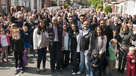 Highgate residents hold a street party to say goodbye to the Patel family who have run Northwood new
