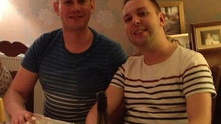 Gavin Brewer, left, and Stuart Meads, right, both fell to their deaths