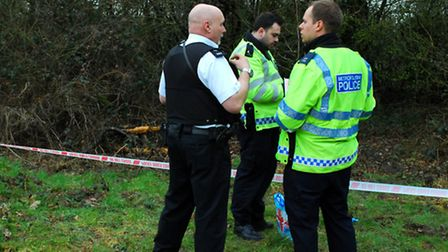 Police on Hampstead Heath investigating a separate incident. Picture: Polly Hancock