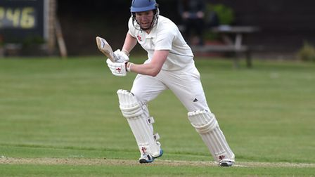 Hampstead's opening batsman Sam Evison top-scored for his side with 66. Pic: Paolo Minoli