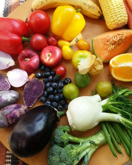 Eat your way through a vegetable rainbow. Picture: Frances Bissell
