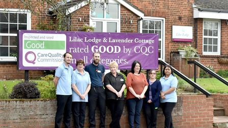 Lilac Lodge & Lavender Cottage staff members are delighted after the care home was rated good by the