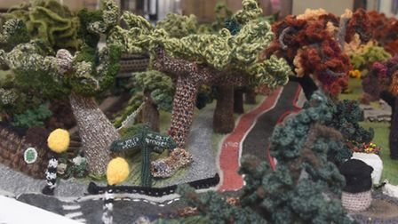 A team of knitters have created a model of Stokey Common out of wool - and it's being included in th