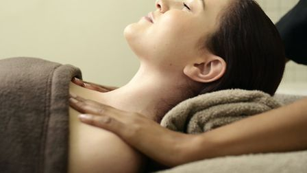 Imogen had a back and foot massage at Sorbet salon in Muswell Hill. Picture: Kevin Mark Pass
