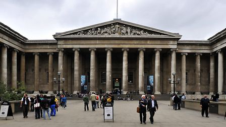 The British Museum was evacuated after a light fitting overheated.